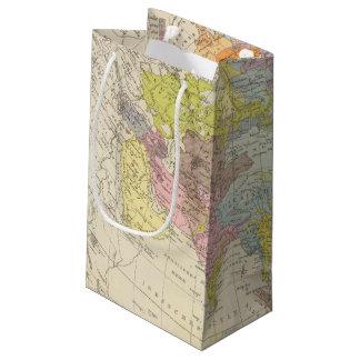 Volkerkarte von Asien - Map of Asia Small Gift Bag