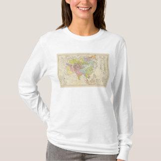Volkerkarte von Asien - Map of Asia T-Shirt