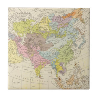 Volkerkarte von Asien - Map of Asia Tile