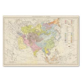 Volkerkarte von Asien - Map of Asia Tissue Paper