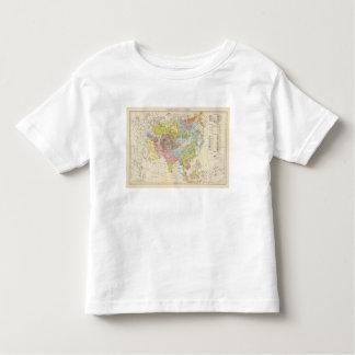 Volkerkarte von Asien - Map of Asia Toddler T-Shirt