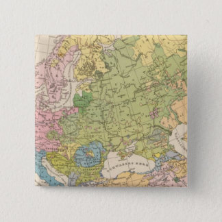 Volkerkarte von Europa, Map of Europe 15 Cm Square Badge
