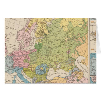 Volkerkarte von Europa, Map of Europe Card