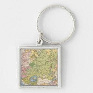 Volkerkarte von Europa, Map of Europe Key Ring