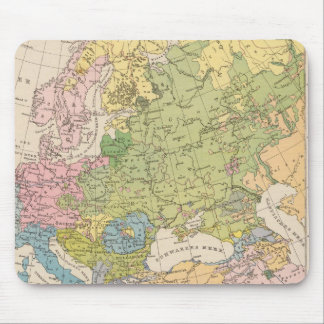 Volkerkarte von Europa, Map of Europe Mouse Mat