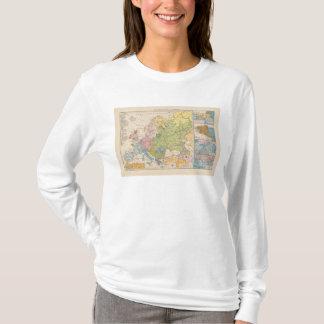 Volkerkarte von Europa, Map of Europe T-Shirt