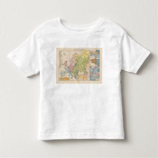 Volkerkarte von Europa, Map of Europe Toddler T-Shirt