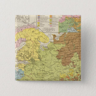 Volkerkarte von Russland - Map of Russia 15 Cm Square Badge