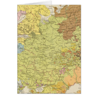 Volkerkarte von Russland - Map of Russia Card