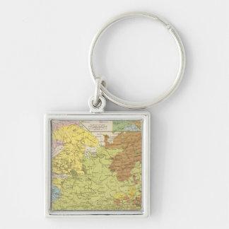 Volkerkarte von Russland - Map of Russia Key Ring