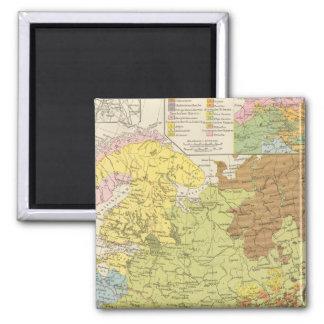 Volkerkarte von Russland - Map of Russia Magnet
