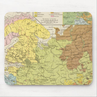 Volkerkarte von Russland - Map of Russia Mouse Mat