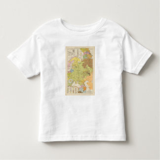 Volkerkarte von Russland - Map of Russia Toddler T-Shirt