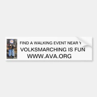 Volksmarcher, FIND A WALKING EVENT NEAR YOU., V... Bumper Sticker