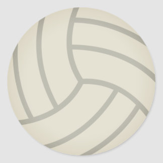 Volley-Ball Emoji Classic Round Sticker