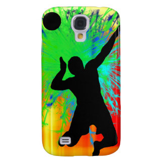 Volley Ball Service Fireworks Galaxy S4 Cover