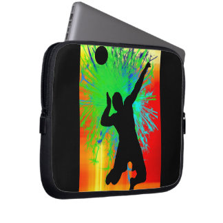 Volley Ball Service Fireworks Laptop Sleeves