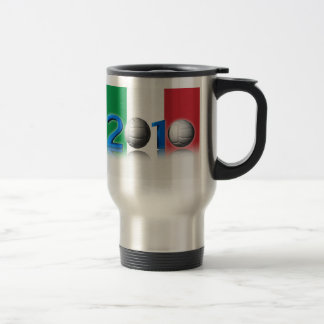 Volley ball world cup 2010 stainless steel travel mug