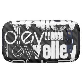 Volley; Black & Dark Gray Stripes Galaxy S3 Cover