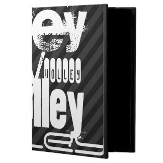Volley; Black & Dark Gray Stripes Case For iPad Air