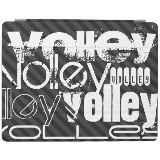 Volley; Black & Dark Gray Stripes iPad Cover