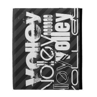 Volley; Black & Dark Gray Stripes iPad Case