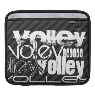 Volley; Black & Dark Gray Stripes iPad Sleeve