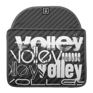 Volley; Black & Dark Gray Stripes Sleeve For MacBook Pro