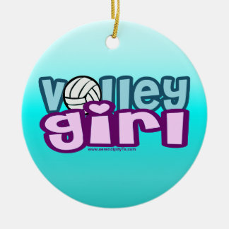 Volley Girl Christmas Ornament