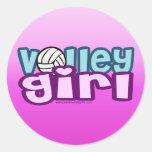 Volley Girl Round Sticker