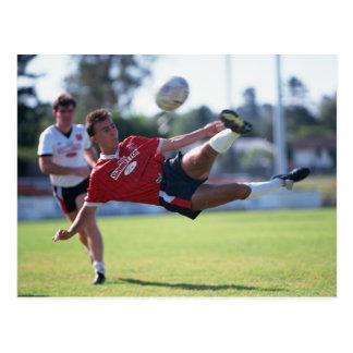 Volley kick postcard