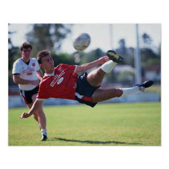 Volley kick poster