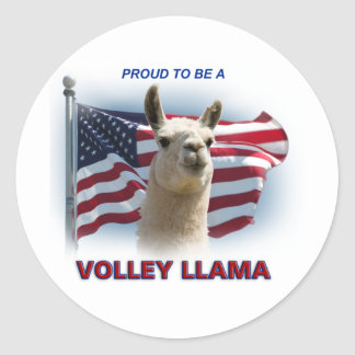 Volley Llama Swagger Classic Round Sticker