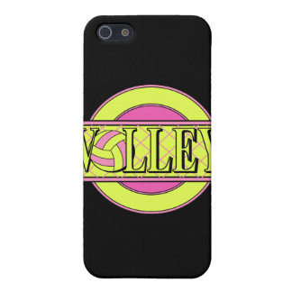 volley logo pink and yellow green iPhone 5 cases