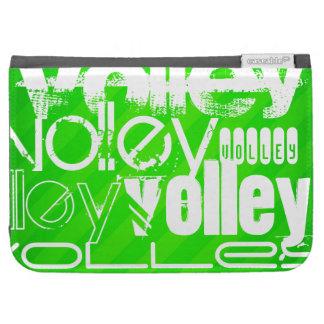 Volley; Neon Green Stripes Kindle Folio Case