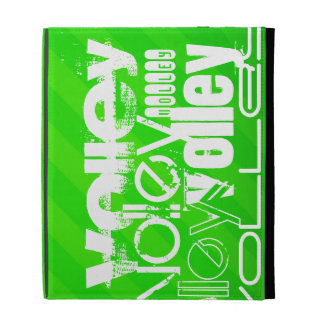 Volley; Neon Green Stripes iPad Folio Covers