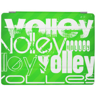 Volley; Neon Green Stripes iPad Cover