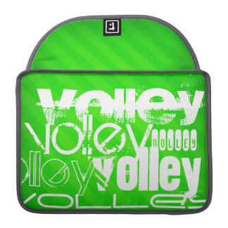 Volley; Neon Green Stripes Sleeve For MacBook Pro