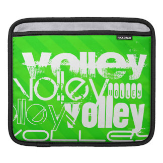 Volley; Neon Green Stripes Sleeves For iPads