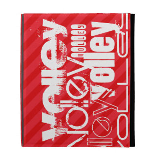Volley; Scarlet Red Stripes iPad Folio Cover