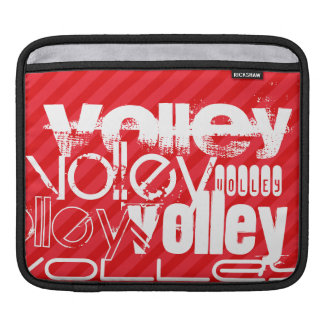 Volley; Scarlet Red Stripes iPad Sleeve