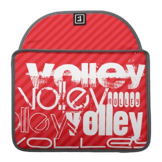 Volley; Scarlet Red Stripes MacBook Pro Sleeves