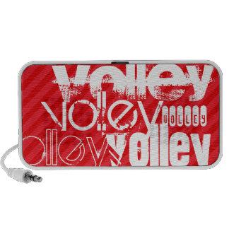 Volley; Scarlet Red Stripes Laptop Speakers
