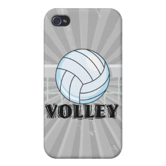 volley volleyball graphic and text iPhone 4/4S covers