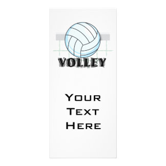 volley volleyball graphic and text rack card design