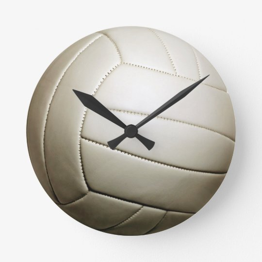 "Volleyball 10.75"" round clock"