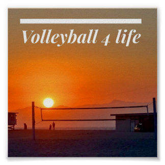 Volleyball 4 Life Poster
