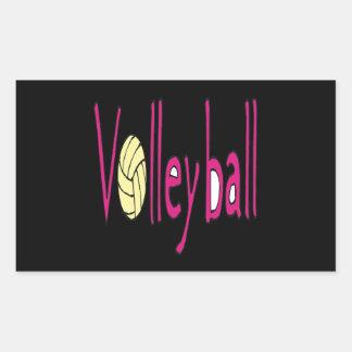 Volleyball 9 rectangular sticker