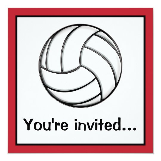 Volleyball After-Game Party Card