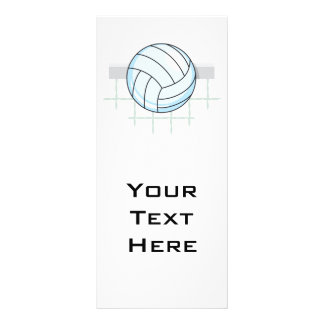 volleyball and net graphic 10 cm x 23 cm rack card